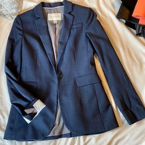 Navy suit blazer from Banana Republic